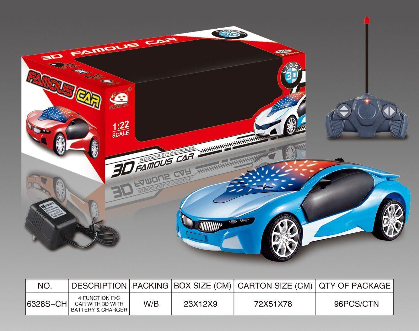 3D Famous Car 4 Channel RC Remote Control Cars with 3D Lights(not included Battery and Charger ) No.:6328S-CH