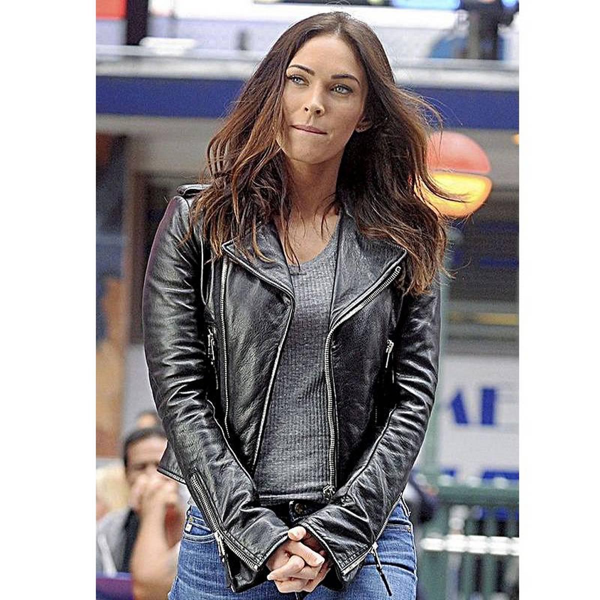 Megan Fox Faux Ladies Leather Jacket For Women - Black