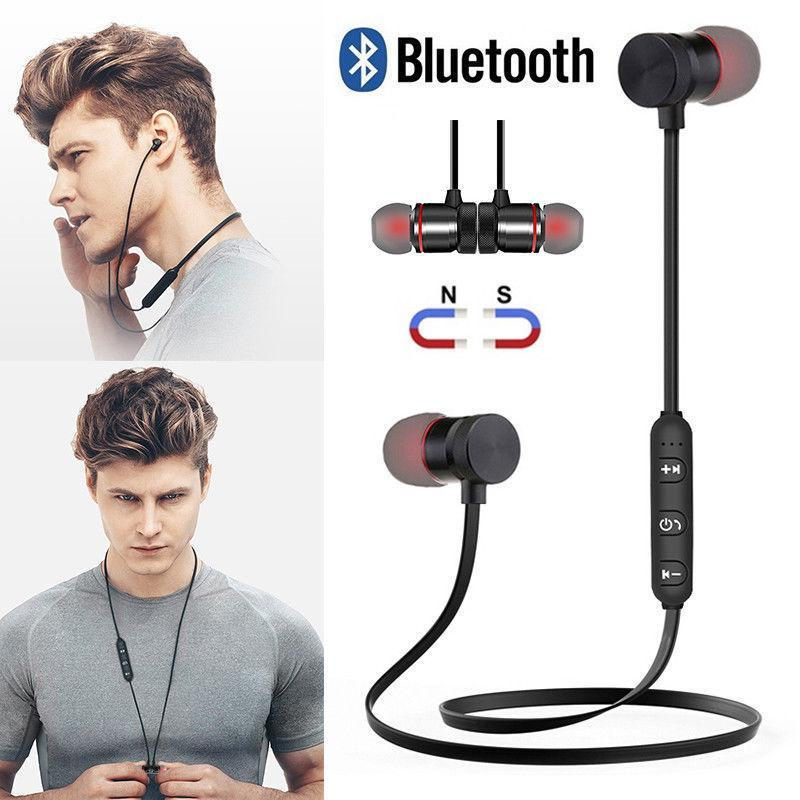 16d24f0bc4a Magnetic Wireless Bluetooth Sport Earphone Super Bass Headset With Mic  Bluetooth Earpiece Headphone