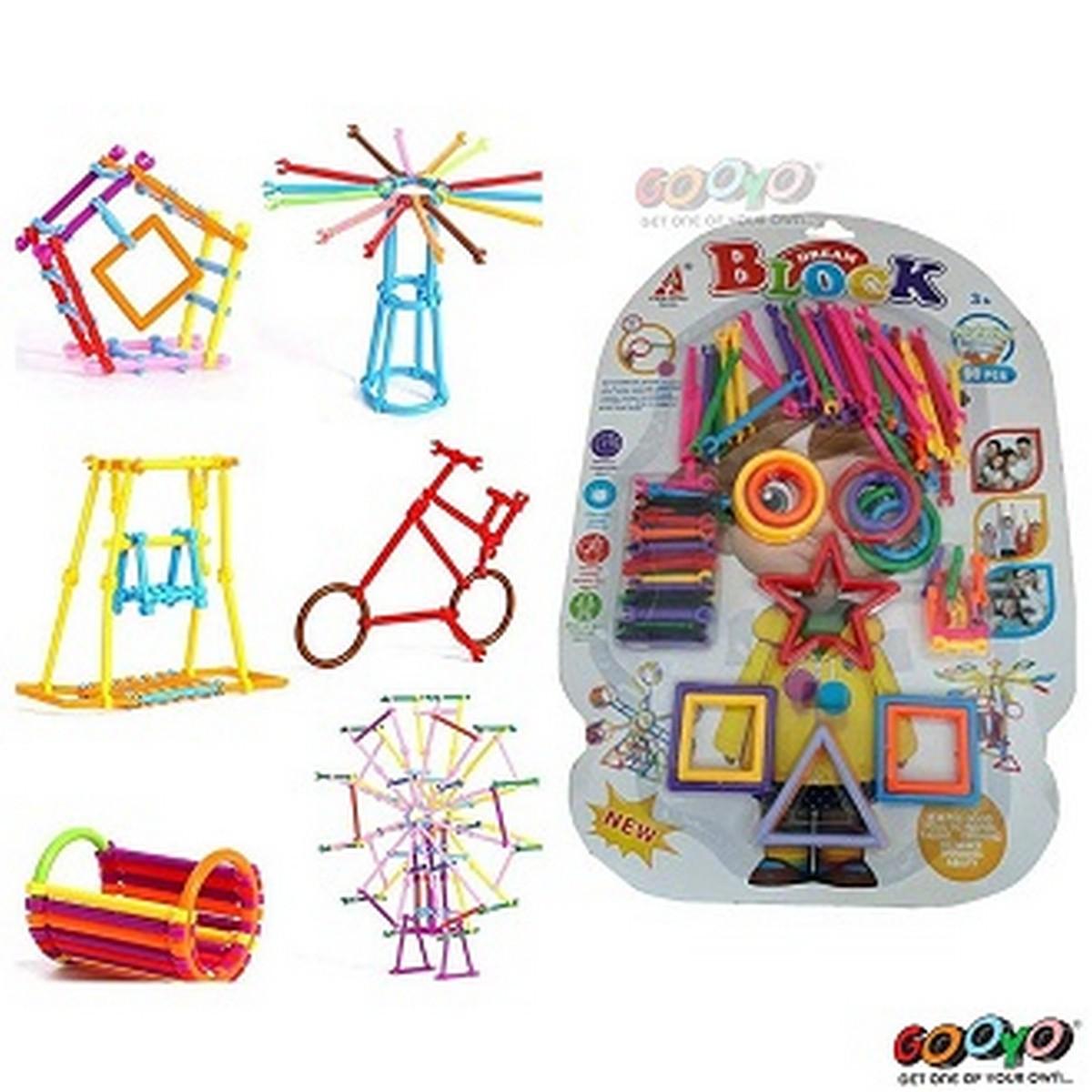 Dream Colorful Activity Sticks Building Blocks Toys for Boys Girl Kids Children- 98 pcs.