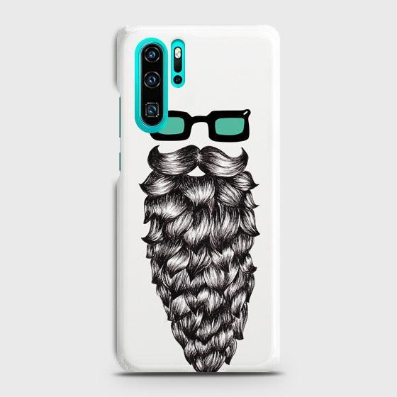 Huawei P30 Pro Cover Case Man beard fashion Hard Cover- Design 35 Cover