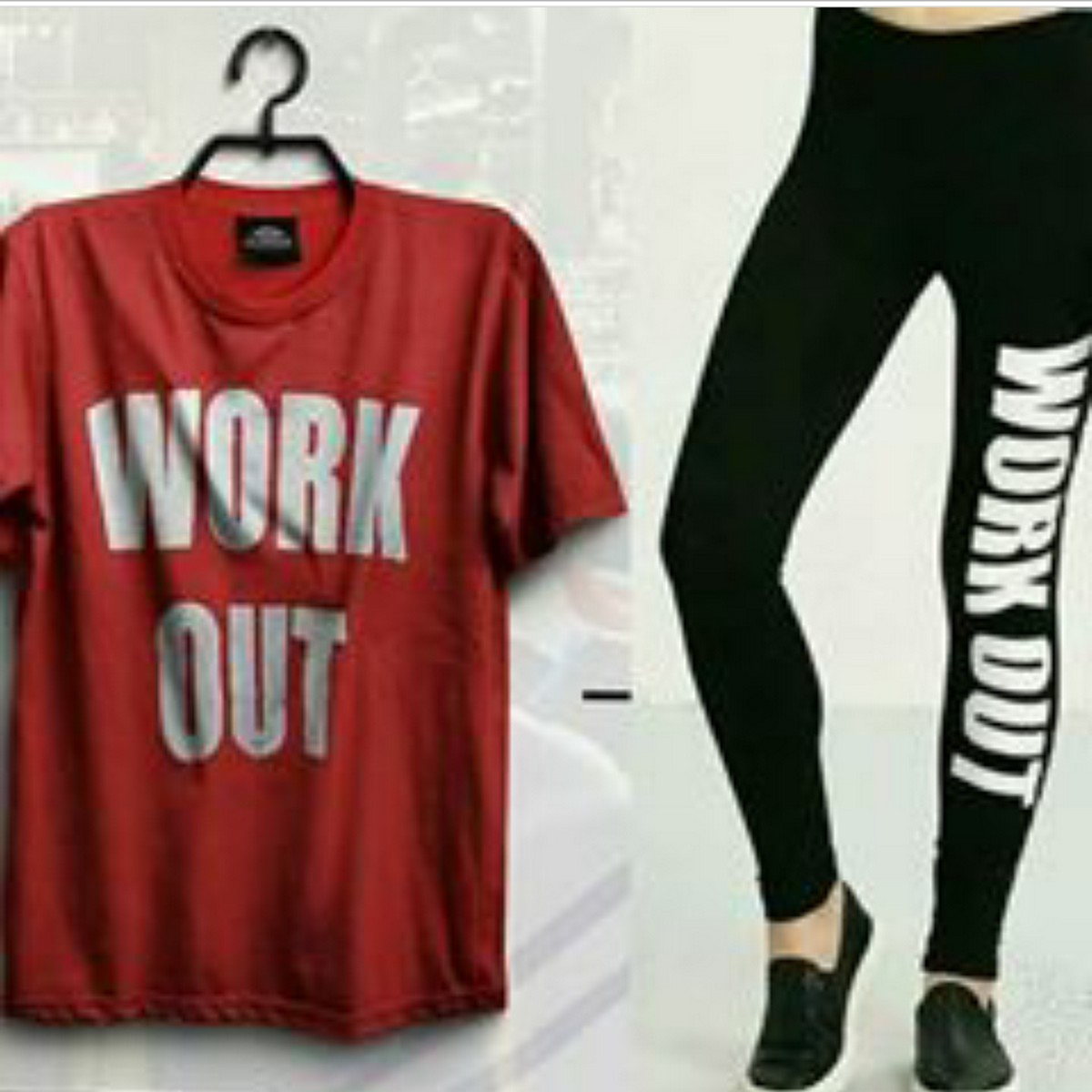 Pack of -2- Gym Tshirt & Tights For Women