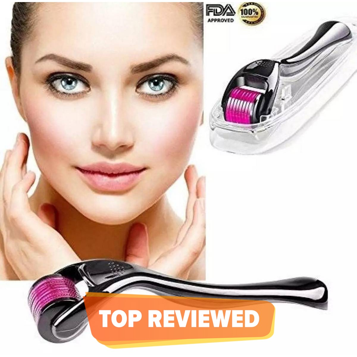 Derma Roller 1.00mm Skin Therapy Micro-Needle 540 For Acne Scars Wrinkles Stretch & Pores