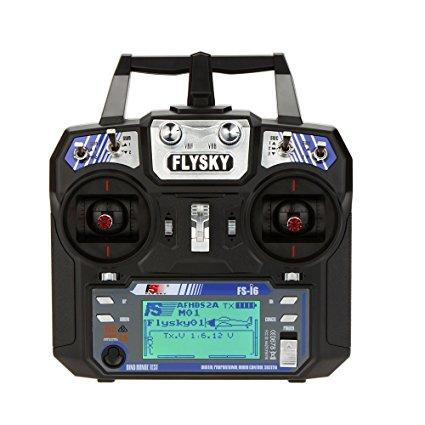 Flysky FS-i6 AFHDS 2A 2.4GHz 6CH Radio System Transmitter for RC Helicopter Quadcopter Glider with FS-iA6 Receiver