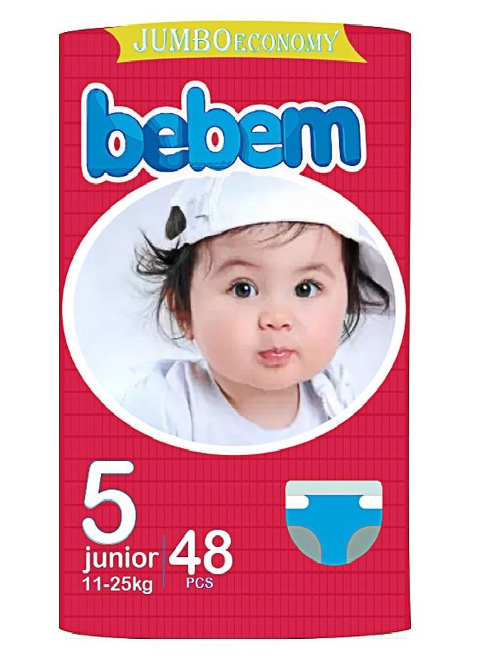 BEBEM bebem Baby Diaper (Pamper)- Size NO  5  Extra large/Junior -  48 Pieces-( 11 - 25 kg )