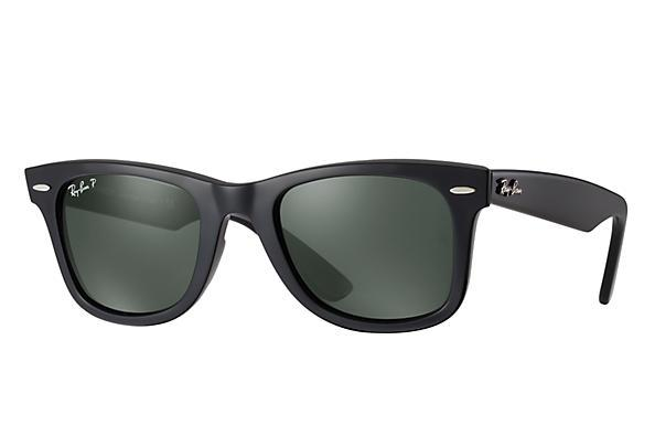 52251a0377d8f1 Wayfarer RB 2140-F 901 58 54.18 3P Polarized Black Crystal Green Asian Fit