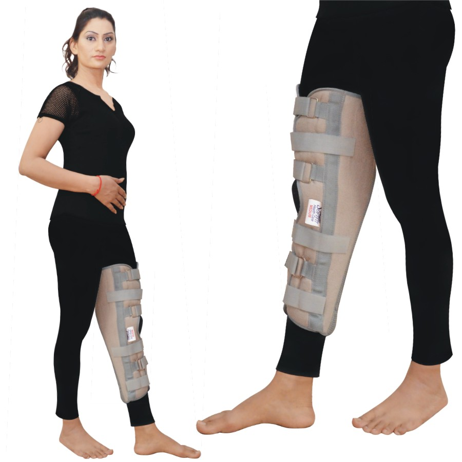 Tri-Panel Knee Immobilizer Strap with Easy to Use Loop & Lock Closures