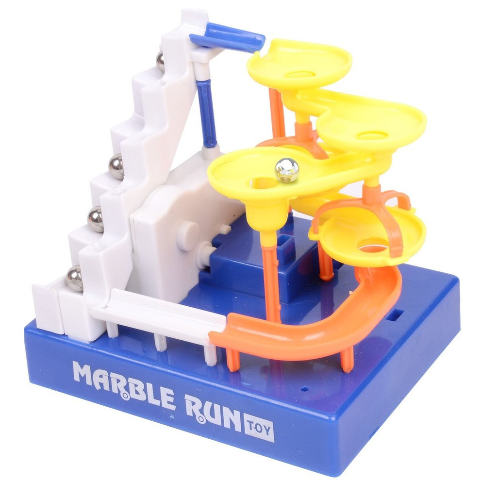 Marble Run Electronic Construction ladder Maze Balls Building Blocks Track Education STEM Toys with music for Children