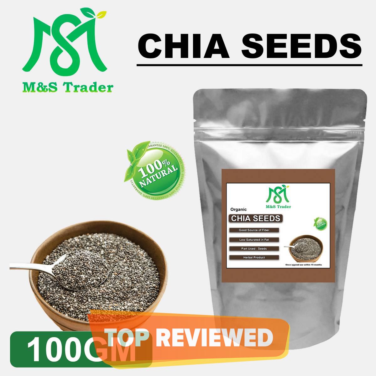 100 % Original Chia Seeds Organic For Weight Loss - 100 Gram