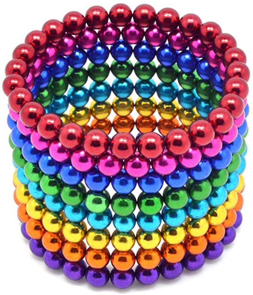 Magnetic Balls Magic Beads 3D Puzzle Buckyballs 216 pieces 5mm Multicolor