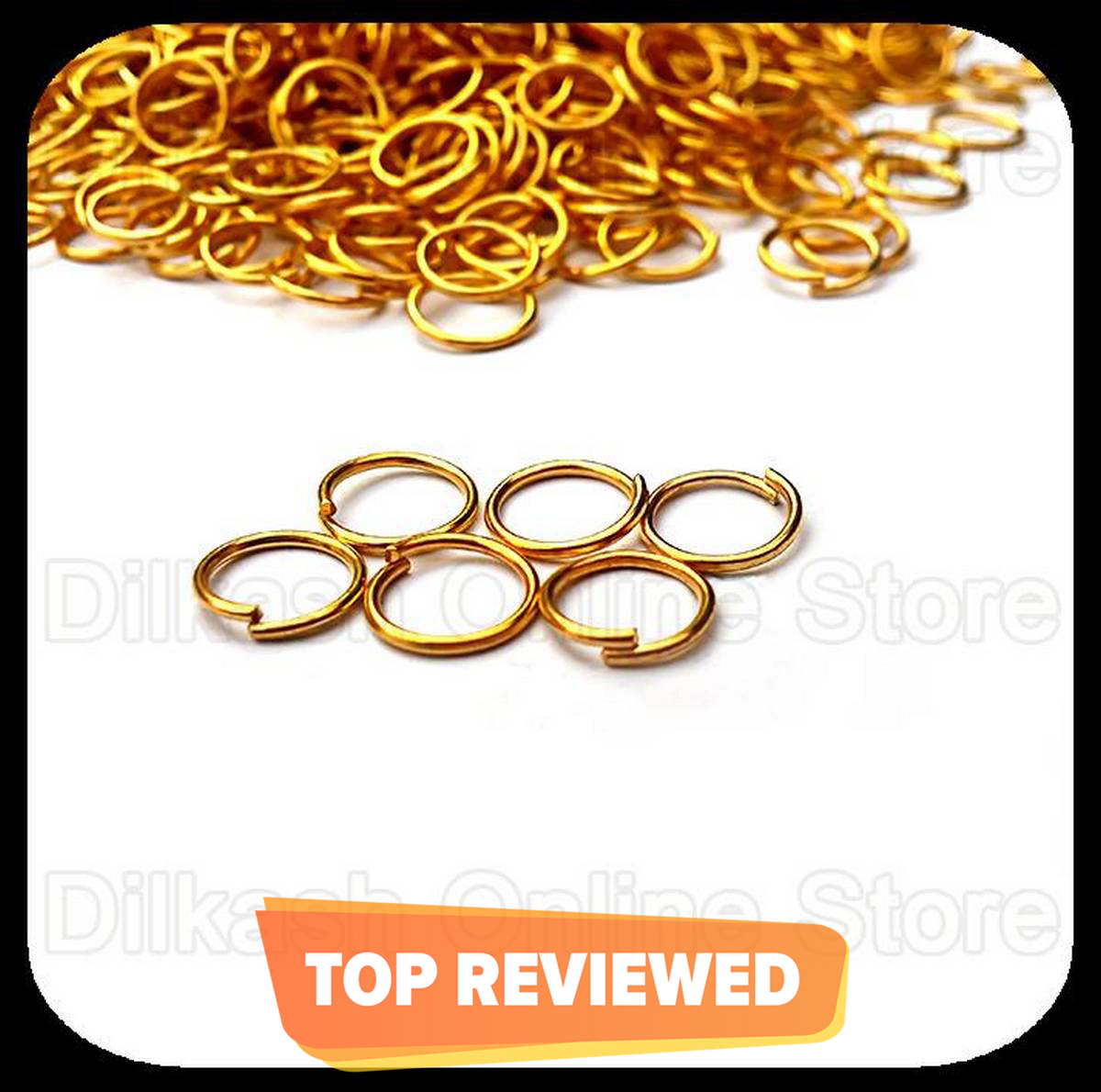 Jewellery sets making Jumping Circles - Golden