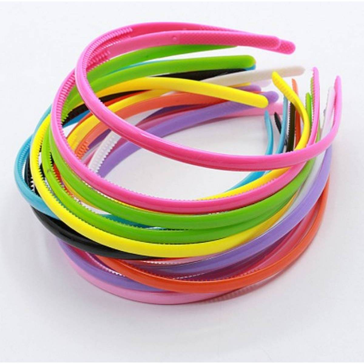 Pack of 3 / Cute Adult Kids Hair Head Candy Color Hoop Band Headband Colorful Fashion Simple Satin Covered Hairband Women Accessories