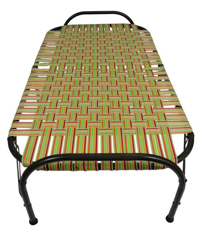Metal Folding Single Charpai Bed - 6Feet