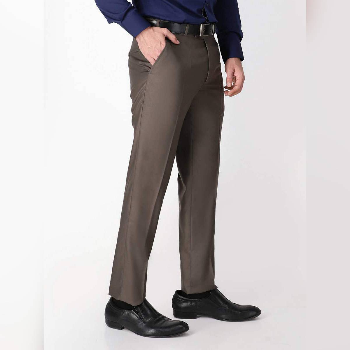 Shahzeb Saeed Olive Green Plain Formal Dress Trouser For Men (WTR-197)