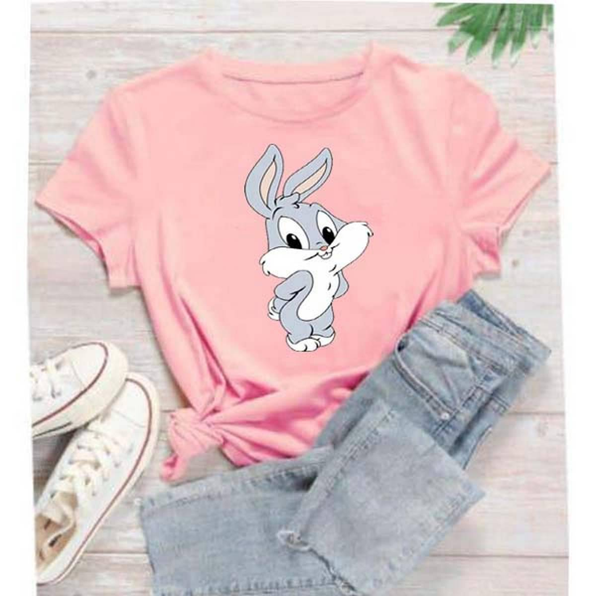 Baby Bugs Bunny Printed T shirts For Women