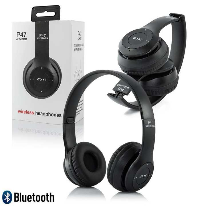 Wireless Headphones P47 Foldable Bluetooth Head phones