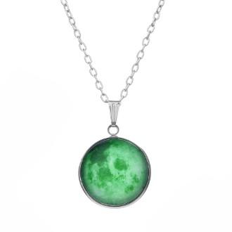 Home Green Emeralds Pendant Necklace Real 925 Sterling Silver Jades Necklace For Women Fashion Jewelry Shipping Free Sale Overall Discount 50-70%