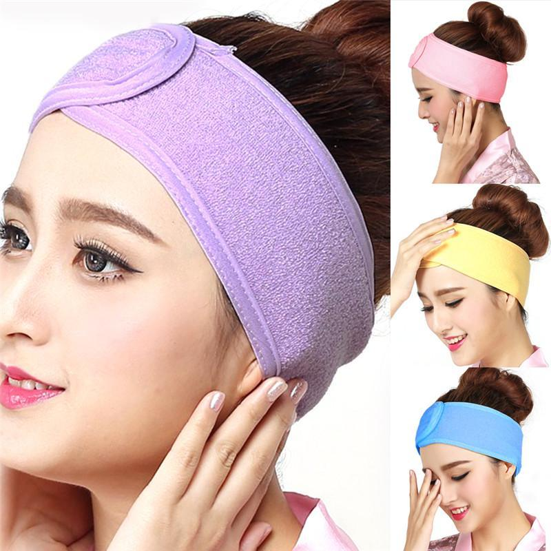Soft Adjustable Makeup Toweling Head Hair Band Wrap Salon Spa Facial For Bath Spa Yoga Sport Make Up, Product By Bravo Store
