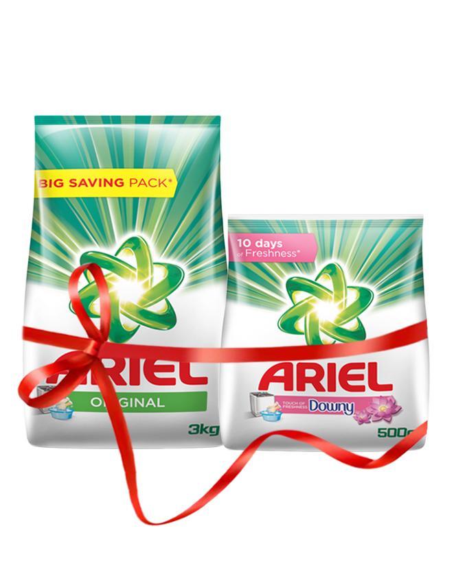 Free Ariel 500g with Ariel Original Detergent Washing Powder, 3kg pack