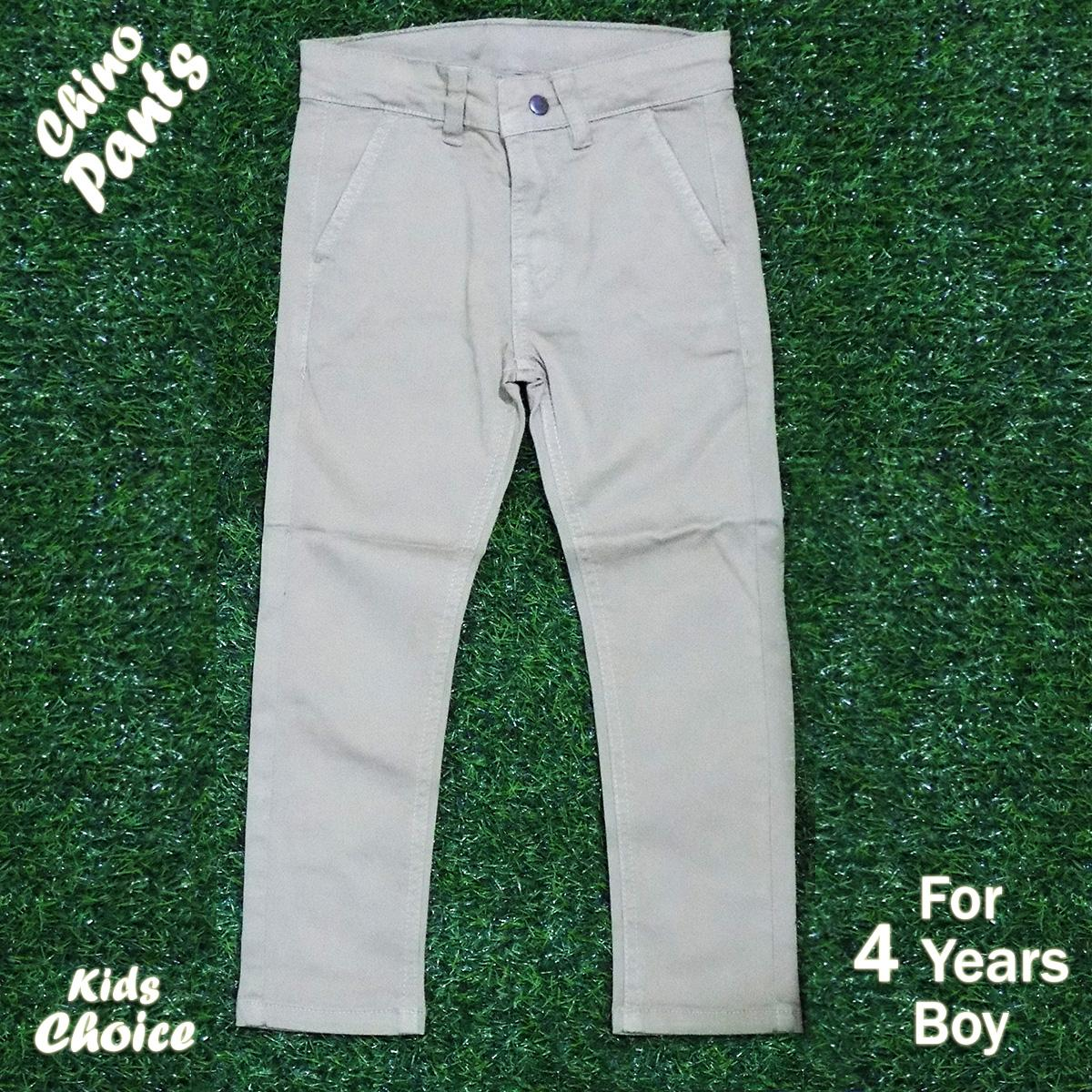 Kids Choice Cotton Chino Pants For 4 Years Boy