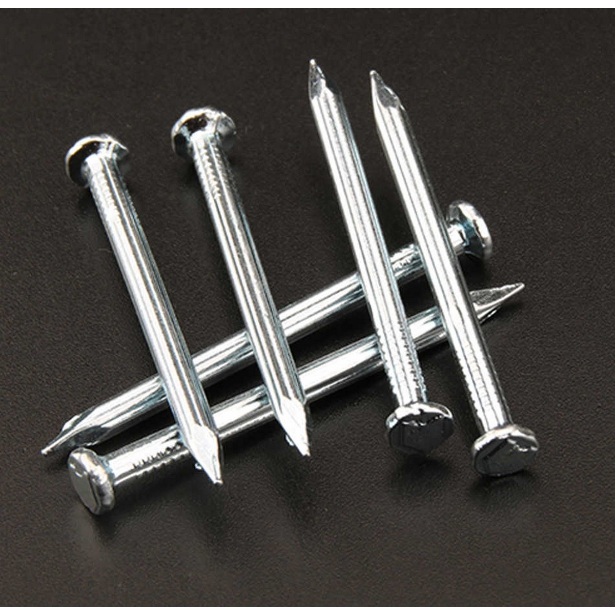 pack of 30 - 1.5  Inch  Hardened Steel Concrete Nails for Wall - Silver