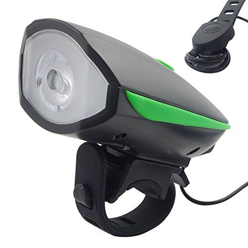 USB Rechargeable Bicycle front light LED Bright Light bicycle headlight bicycle Speaker horn light
