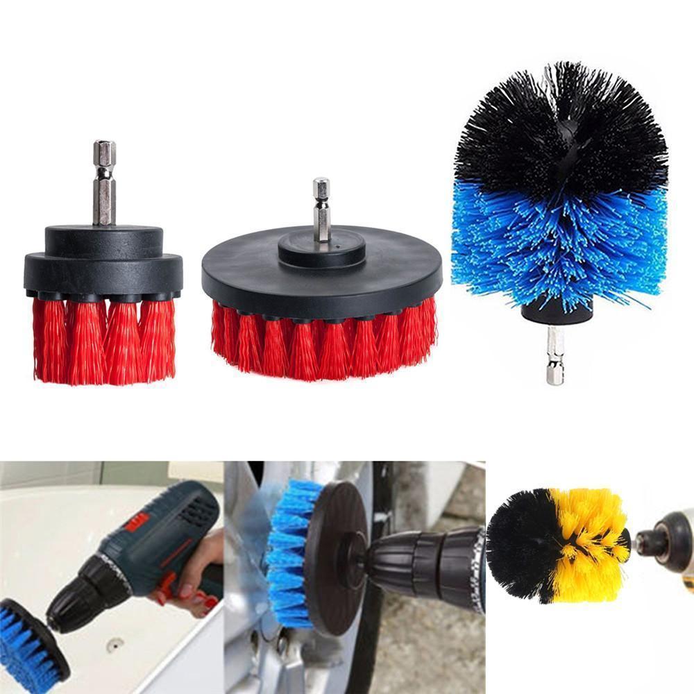3pcs Kit De Brosse De Nettoyage Pour Perceuse à Récurer électrique Pour Tapis De Baignoire
