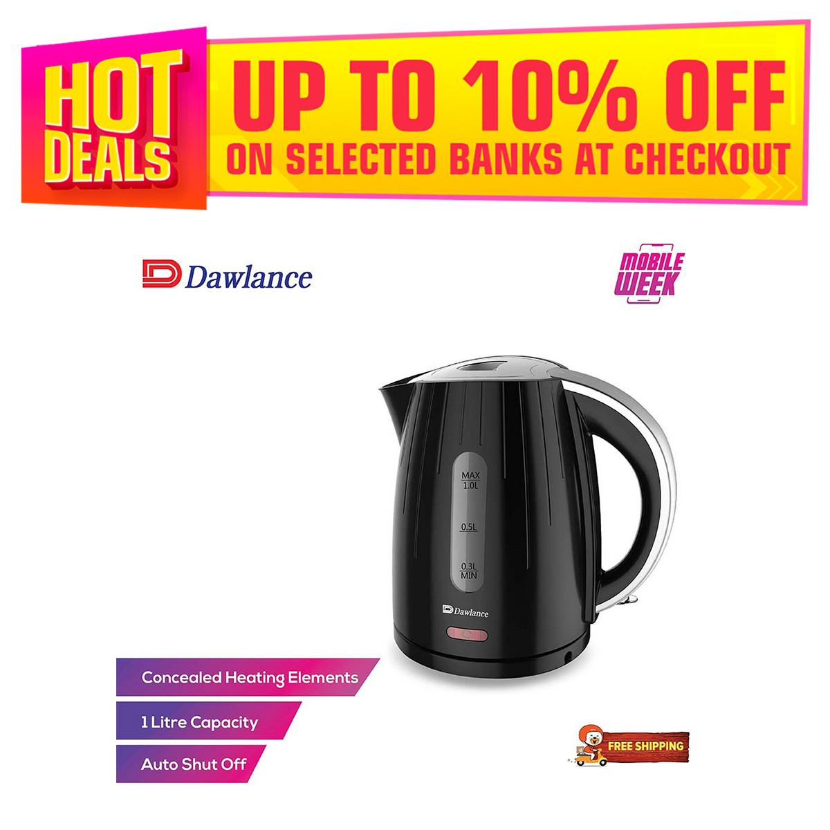 Dawlance Electric Kettle DWEK 7100 Black 2 1 Liter