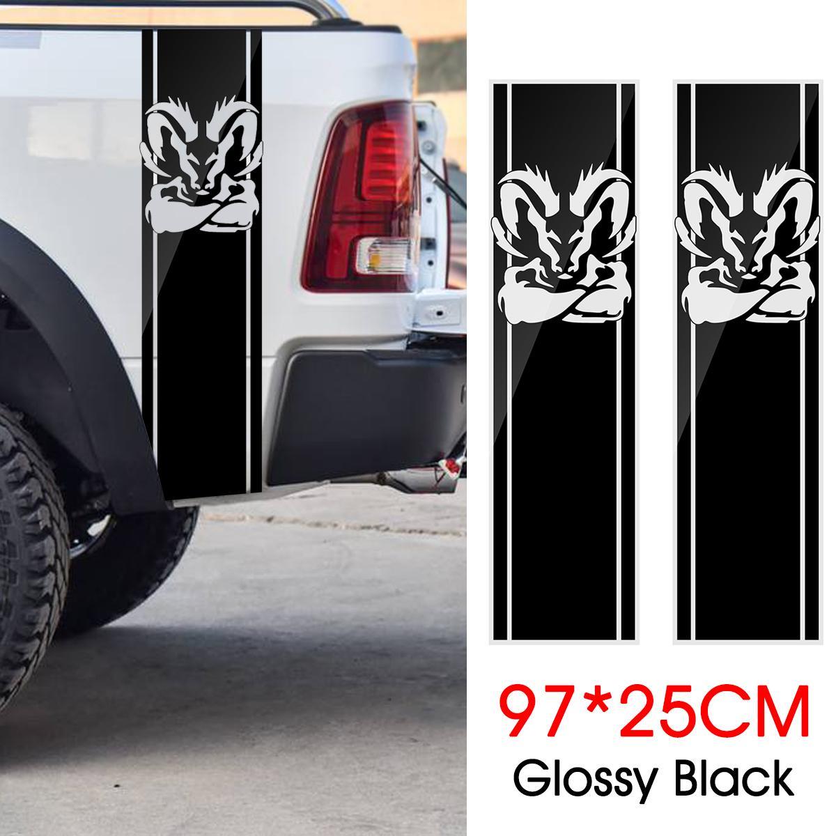 Dodge Ram 1500 2500 3500 Vinyl Decal Racing Sticker Stripe Hemi Mopar 5.7L DS011