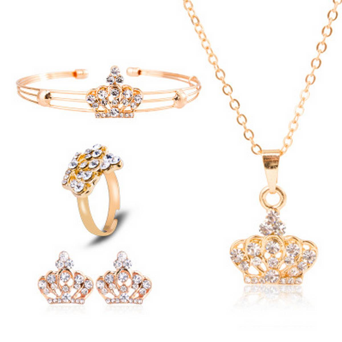 Kaytlins Pack of 4 Queens Jewelry Set For Girls  - New Arrivals