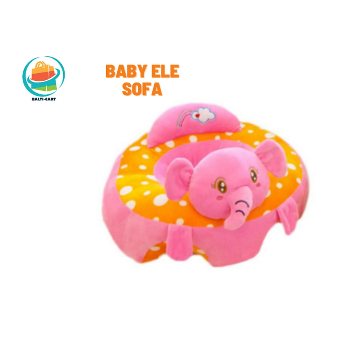 Balti Cart Baby Plush Seats Sofa Support Chair Cartoon Baby Seats Sofa Support Soft Plush For Instant Learning To Sit Sofa For 4 To 12 Months Baby In Lovely Characters.