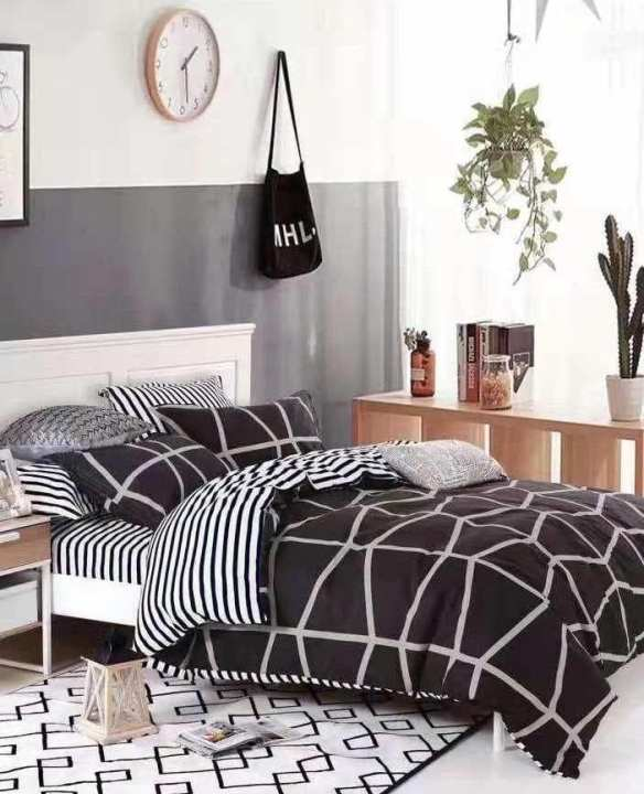 New design double bedsheet with pillow cover