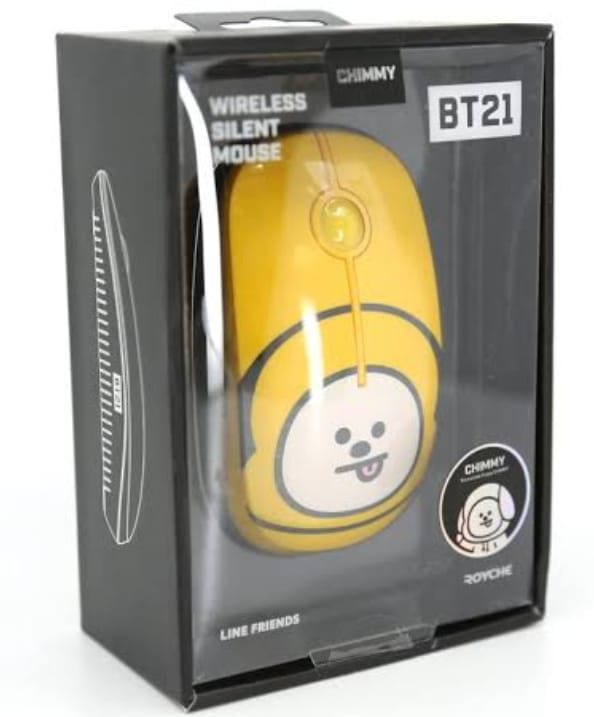 Wireless Silent Bluetooth Mouse -Yellow