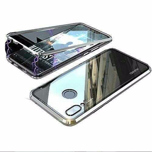 best loved 48d29 998e3 Magnetic Adsorption Bumper Case with Tempered Glass Back For Huawei Honor 8X