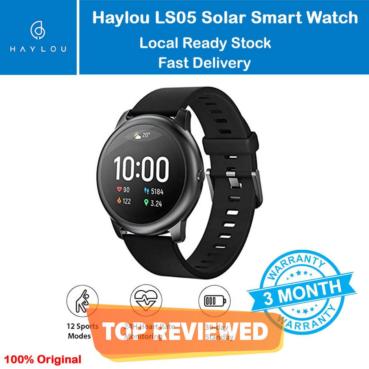 Haylou smart watch solar / LS05 Black