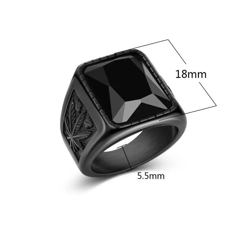 The most trendy wide Zircon ring for men and women