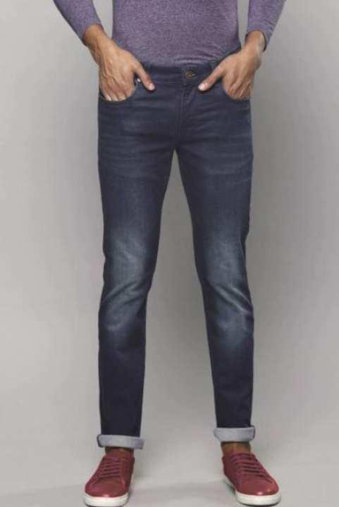 Matt Blue Slim Fit Stretchable Jeans