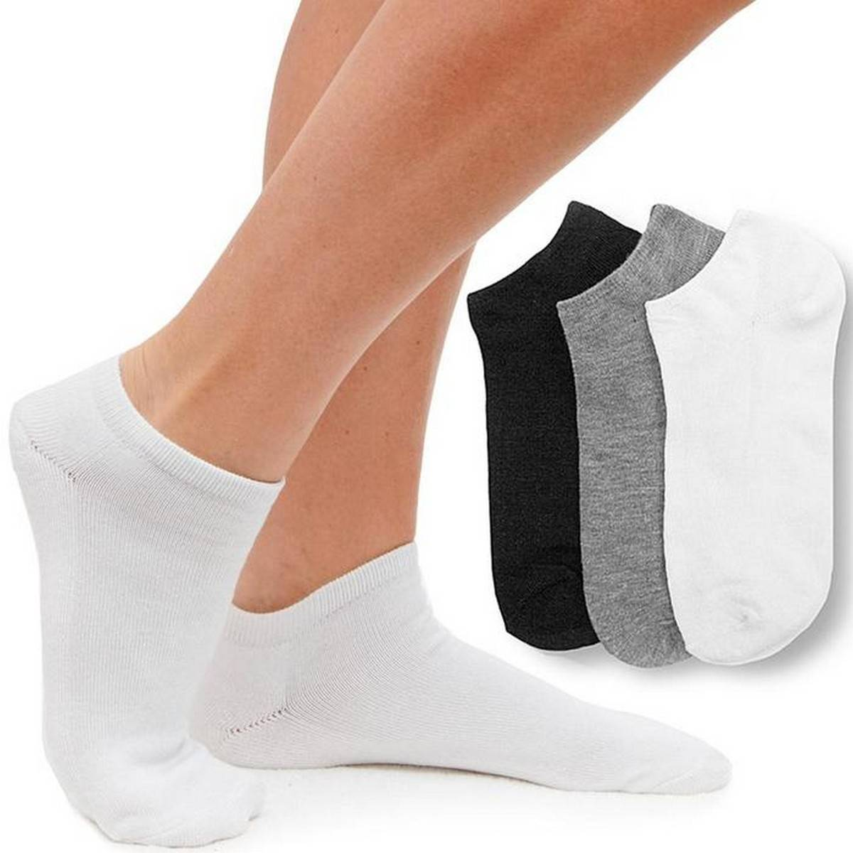 3 PAIRS OF ANKLE SOCKS | FOR ALL WEATHERS | 3 COLORS