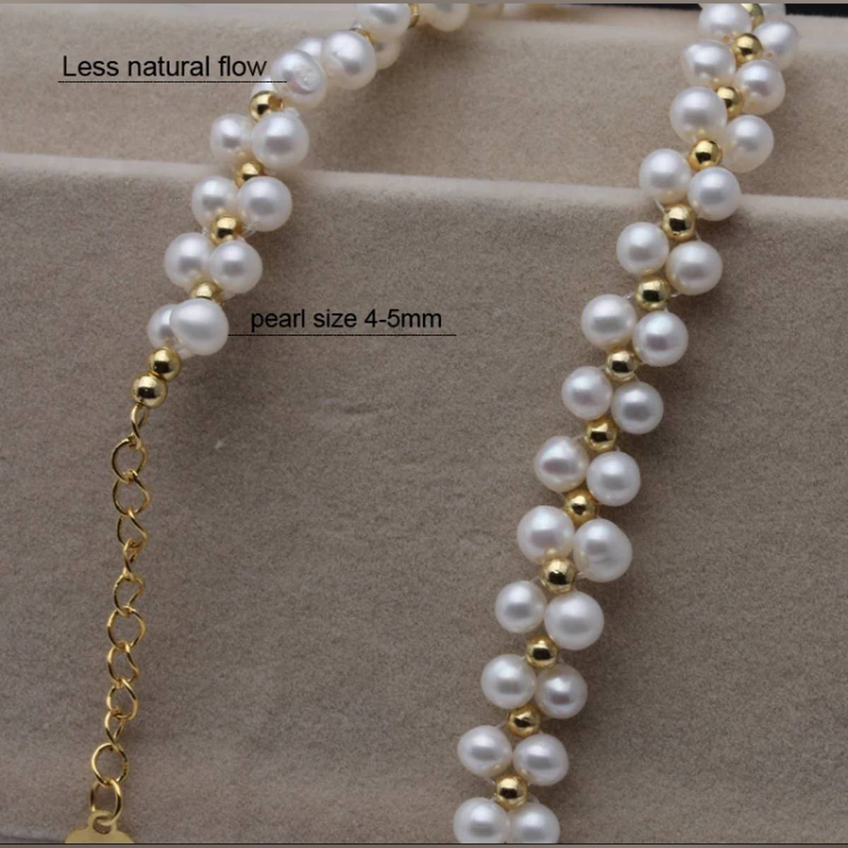 Trendy 2020 Necklace For Girls, Pearl Necklace Double Press