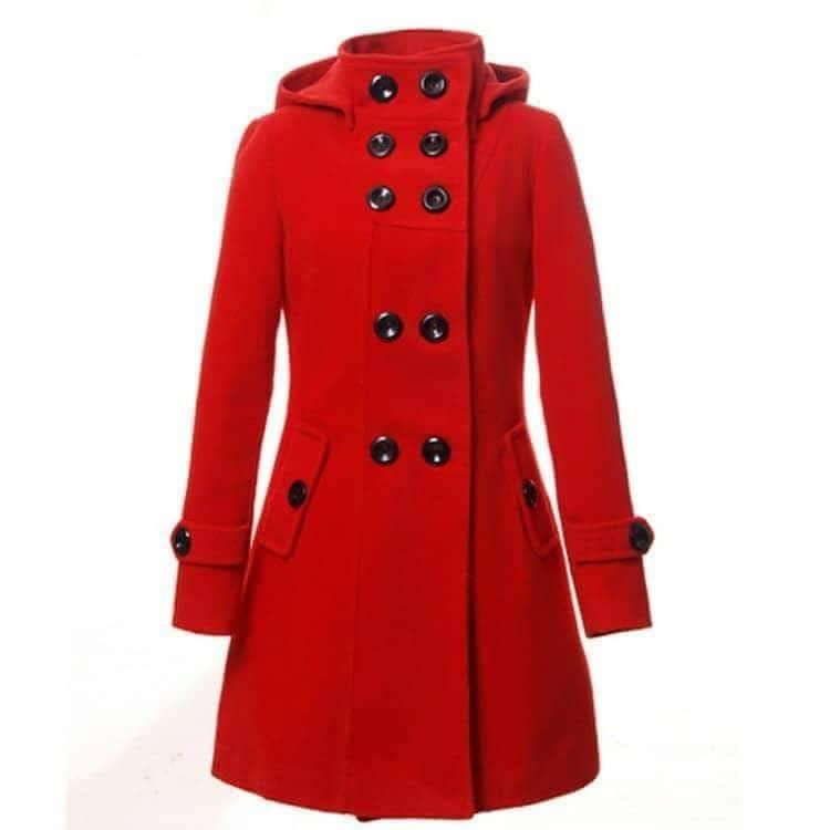 WINTER HOODED STYLE FLEECE COAT FOR WOMEN