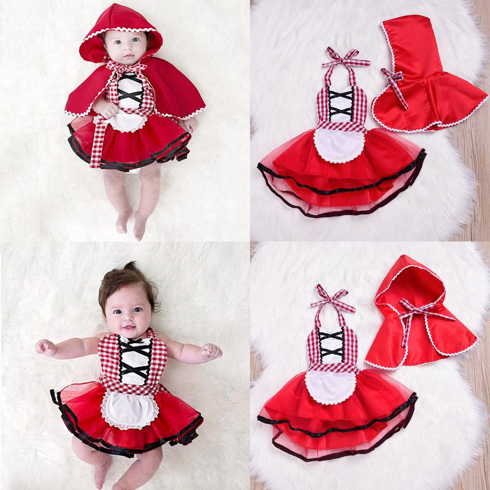 21ef5e7e43f Rainbowroom 2Pcs Toddler Newborn Baby Girls Plaid Tutu Lace Dress Hooded  Cloak Outfits Set