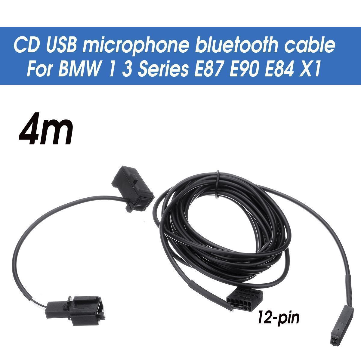 Speeding Professiona CD USB Microphone Bluetooth Cable For BMW 1 3 Series  E87 E90 E84 X1