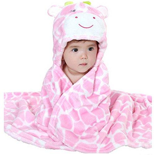 Cute Baby Blanket Newborn Baby Wrap Swaddling Animals Blanket