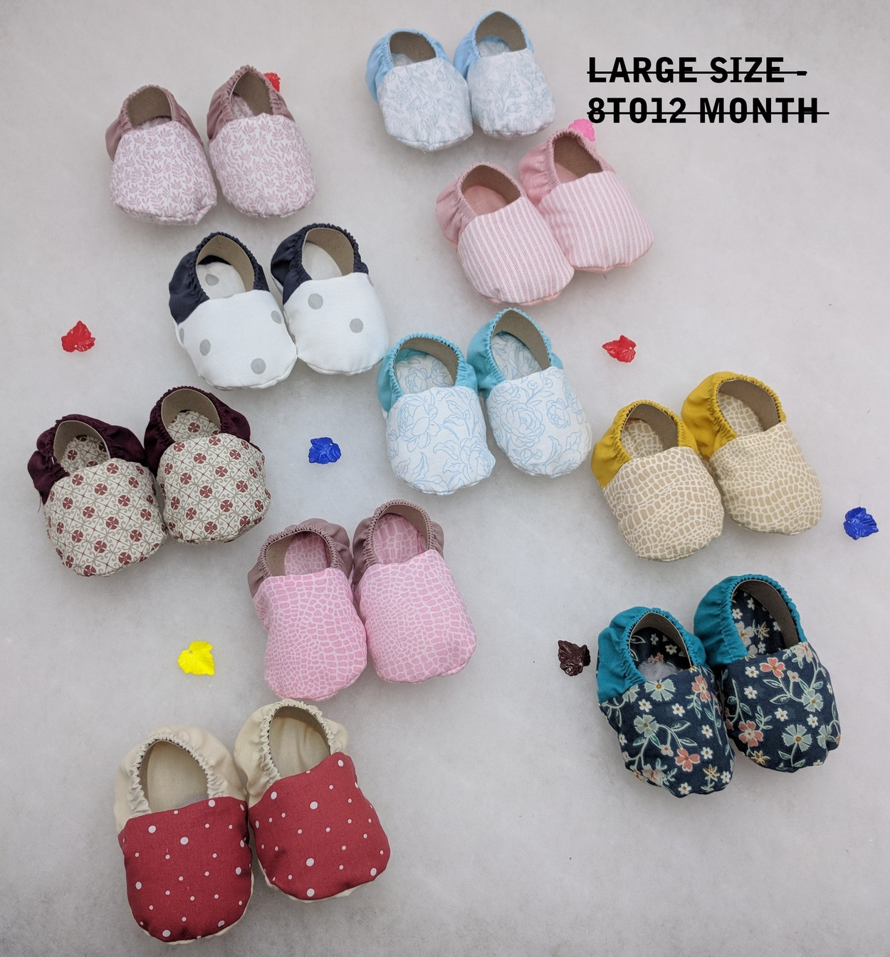 Jack & Jill - Jack & Jill - New Born Baby Footwear Soft Cotton Shoes / Booties Pack of 10 Pair