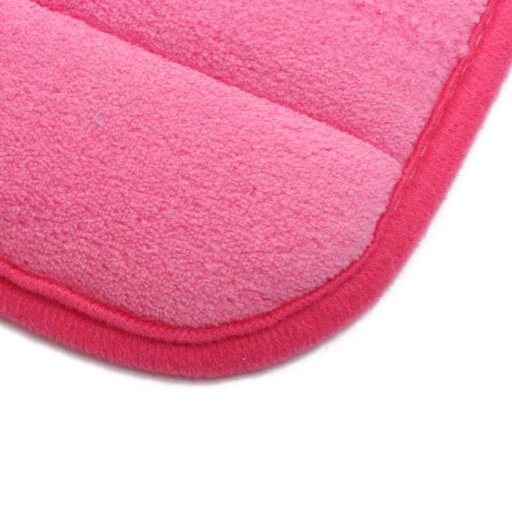 Microfibre Memory Foam Bathroom Shower Bath Mat With Non Slip Back Rose red  Machine washable NEW