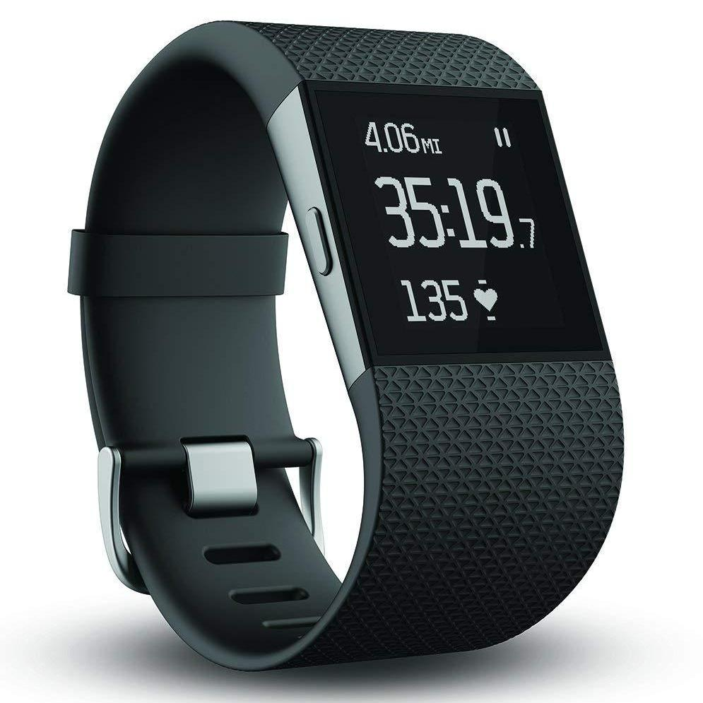 Fitbit Surge Activity Tracker Fitness Watch Small Black - FB501BKS