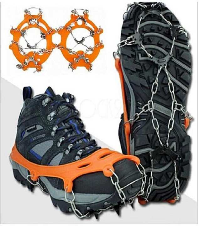 IceGrip Shoes Spikes_Chain Silicone Anti-slip Spikes_with TeethClaws Stainless Steel