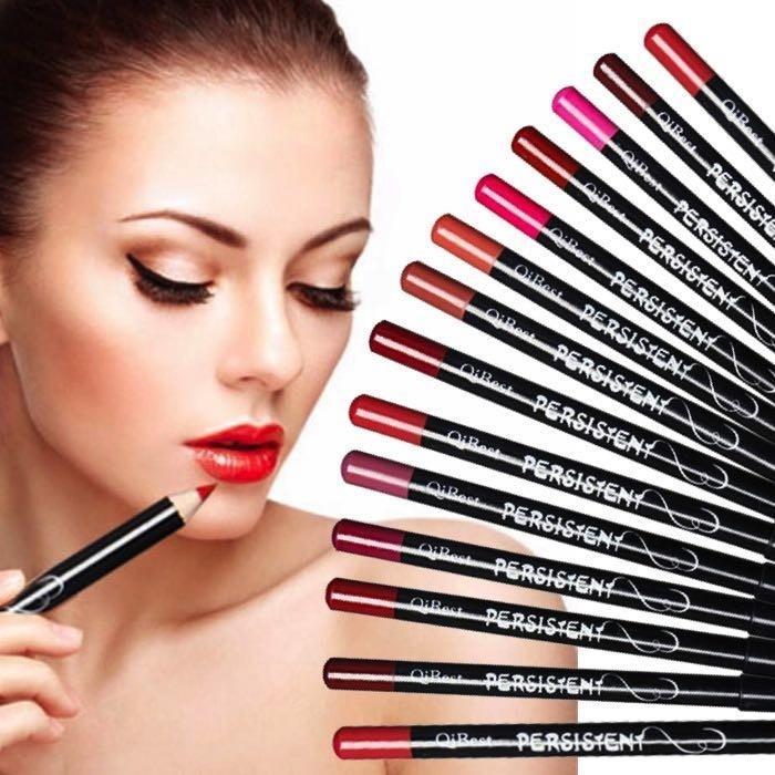 Matte Pack Of 12 - Multicolor Lip & Eye Pencil Kit For Women