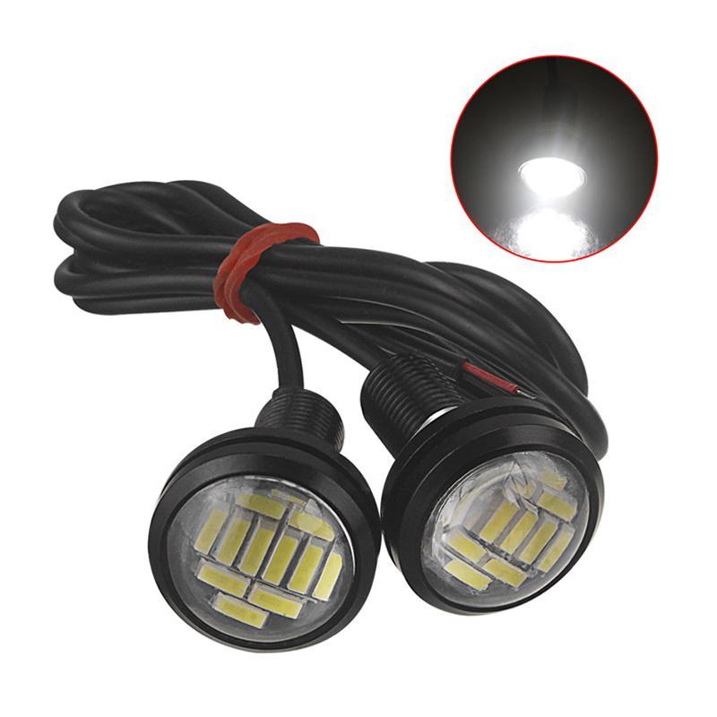 2PCS Eagle Eye LED 4014 12SMD 23MM DRL Daytime Running Waterpproof Light  Motor Car Lamp