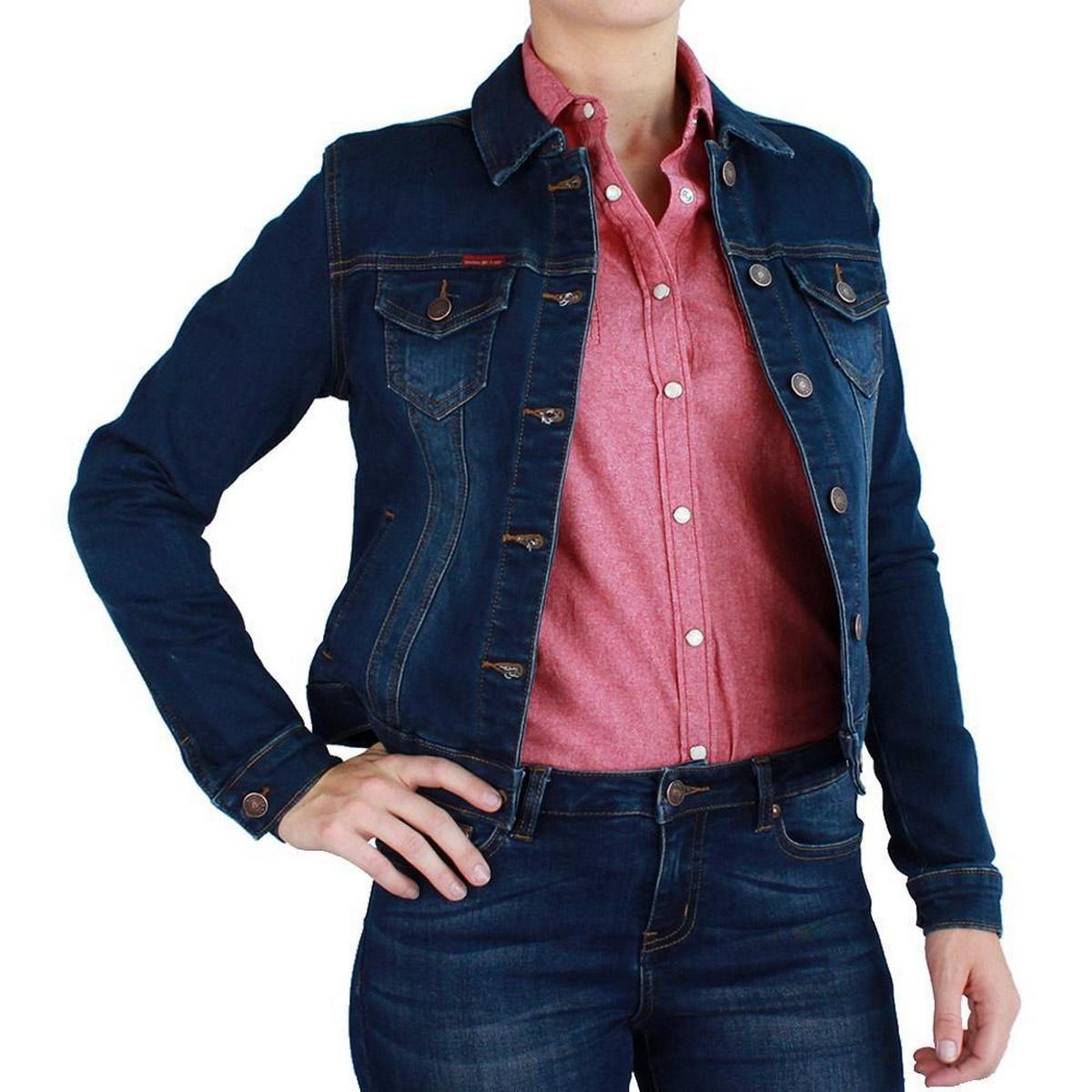 women denaim jacket in multicolour